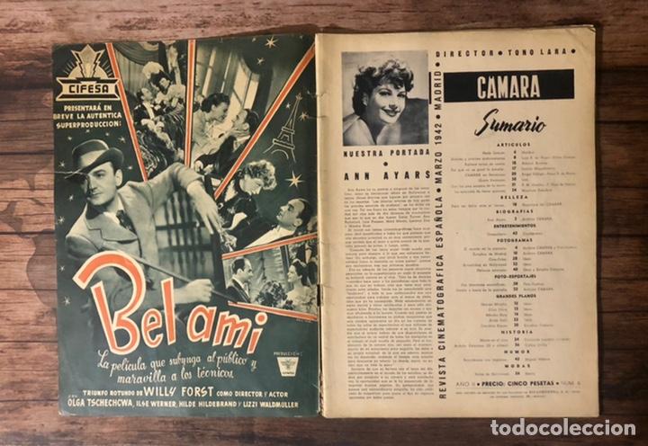 Cine: REVISTA CAMARA, NUMERO 6, MARZO DE 1942, ( TALLERES RIVADENEYRA ) - Foto 2 - 243103655