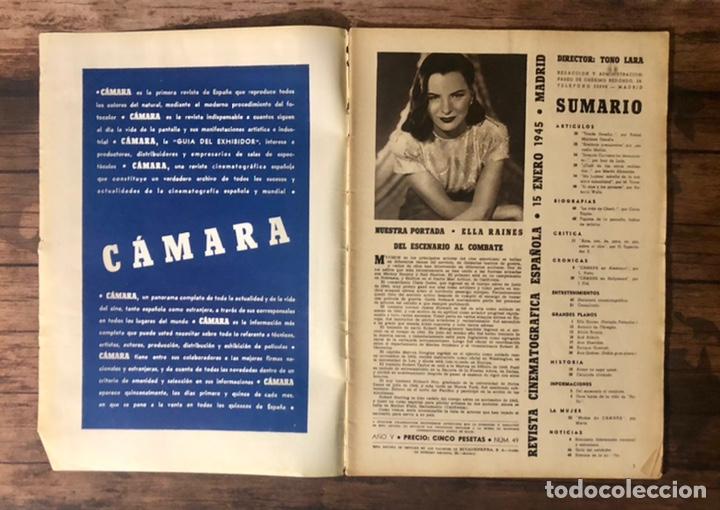 Cine: REVISTA CAMARA, NUMERO 49, ENERO DE 1945, ( TALLERES RIVADENEYRA ) - Foto 2 - 243103675
