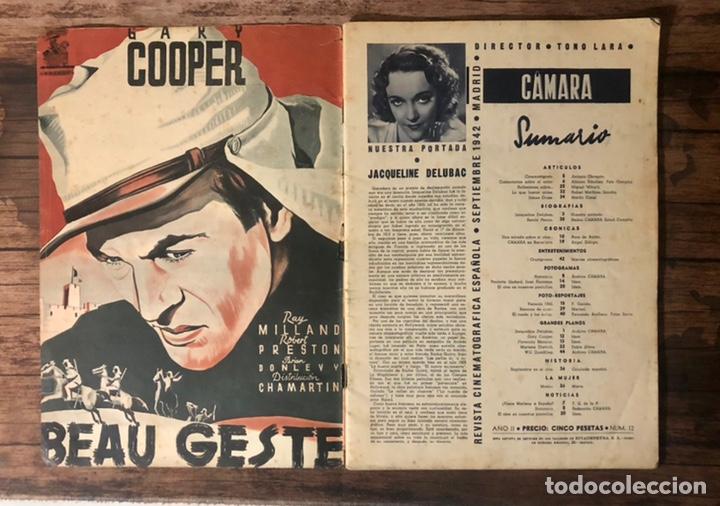 Cine: REVISTA CAMARA, NUMERO 12, SEPTIEMBRE DE 1942, ( TALLERES RIVADENEYRA ) - Foto 2 - 243103800
