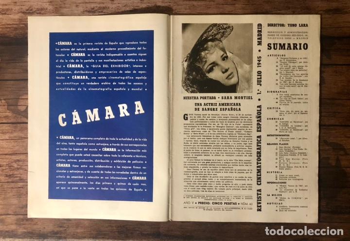 Cine: REVISTA CAMARA, NUMERO 60, JULIO DE 1945, ( TALLERES RIVADENEYRA ) - Foto 2 - 243103855