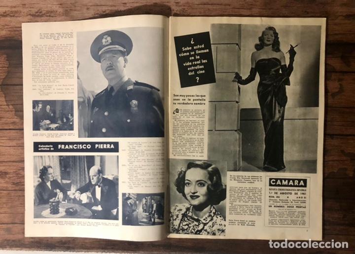 Cine: REVISTA CAMARA, NUMERO 206, AGOSTO DE 1951, ( TALLERES RIVADENEYRA ) - Foto 2 - 243103885