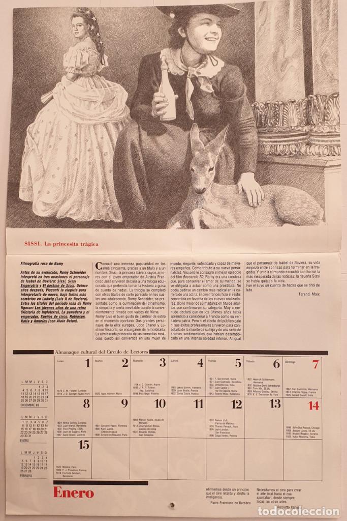 Cine: Almanaque Cultural 1990 Circulo Lectores - Textos Terenci Moix - Los Grandes mitos del Cine - Foto 2 - 243837565