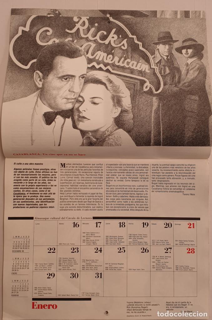 Cine: Almanaque Cultural 1990 Circulo Lectores - Textos Terenci Moix - Los Grandes mitos del Cine - Foto 3 - 243837565