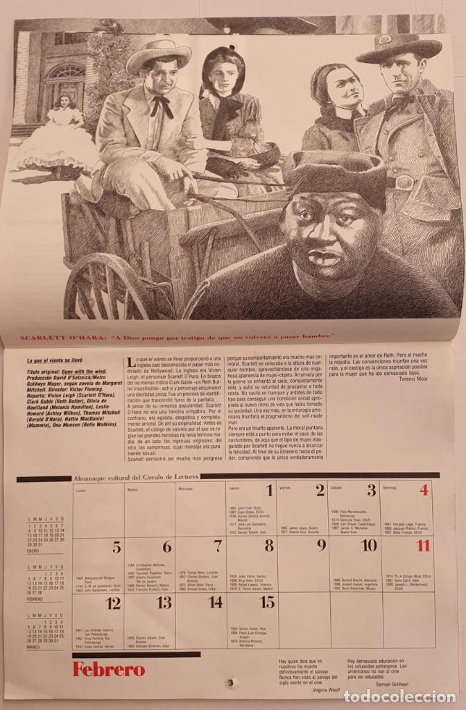 Cine: Almanaque Cultural 1990 Circulo Lectores - Textos Terenci Moix - Los Grandes mitos del Cine - Foto 4 - 243837565