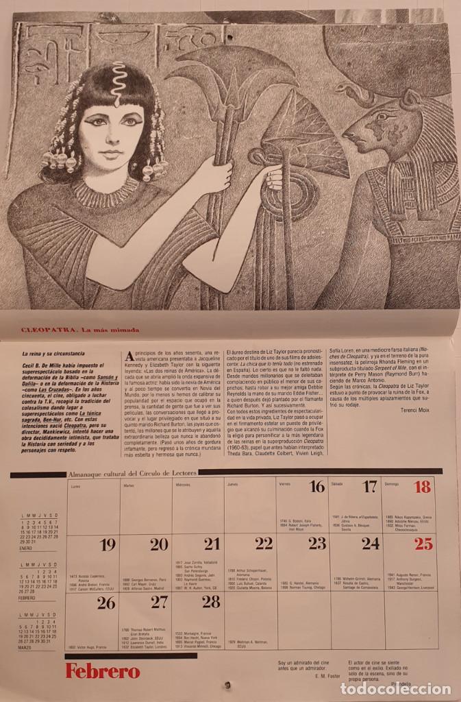Cine: Almanaque Cultural 1990 Circulo Lectores - Textos Terenci Moix - Los Grandes mitos del Cine - Foto 5 - 243837565