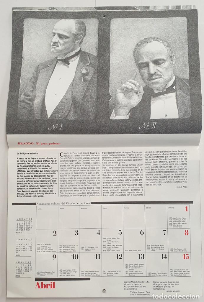 Cine: Almanaque Cultural 1990 Circulo Lectores - Textos Terenci Moix - Los Grandes mitos del Cine - Foto 6 - 243837565