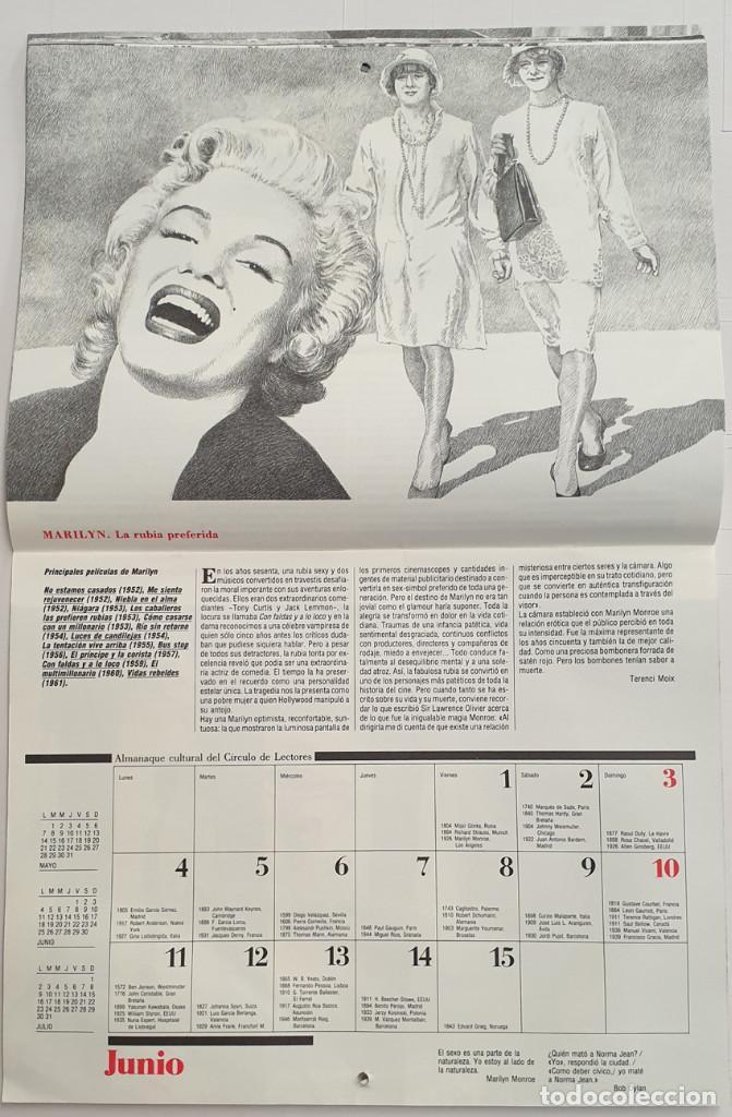 Cine: Almanaque Cultural 1990 Circulo Lectores - Textos Terenci Moix - Los Grandes mitos del Cine - Foto 7 - 243837565