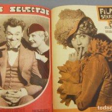 Cine: FILMS SELECTOS 1934 ENCUADERNADOS DEL Nº 173 FEBRERO AL Nº 217 DICIEMBRE 44 REVISTAS. Lote 243858850