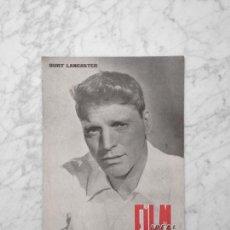 Cine: FILM IDEAL - Nº 39 - 1960 - BURT LANCASTER, GERARD PHILIPPE, CAROL REED. Lote 243868585