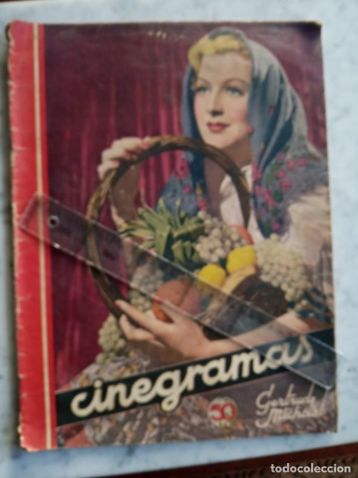 REVISTA CINERAMAS - CATALINA BARCENA - CLAUDETTE COLBERT - GERTRUDE MICHAEL - LOUISE BROOKS (Cine - Revistas - Cinegramas)