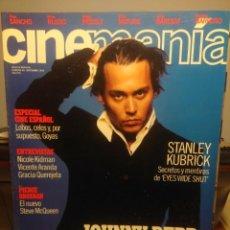 Cine: CINEMANIA ( REVISTA DE CINE ) JOHNNY DEEP + STANLEY KUBRICK + PIERCE BROSNAN + NICOLE KIDMAN. Lote 244016640