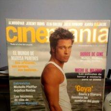 Cine: CINEMANIA ( REVISTA DE CINE ) BRAD PITT ( FIGHT CLUB ) + MARISA PAREDES + MICHELLE PFEIFFER. Lote 244191115