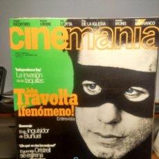 Cine: CINEMANIA ( REVISTA DE CINE ) JOHN TRAVOLTA + INDEPENDENCE DAY+ RAY LIOTTA. Lote 244192210