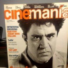 Cine: CINEMANIA ( REVISTA DE CINE ) PEDRO ALMODOVAR + SEAN PENN + JEREMY IRONS + STALLONE. Lote 244192715