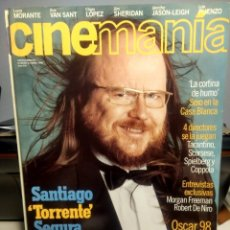 Cine: CINEMANIA ( REVISTA DE CINE ) SANTIAGO SEGURA ( TORRENTE) + MORGAN FREEMAN + ROBERT DE NIRO. Lote 244193825