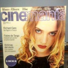 Cine: CINEMANIA ( REVISTA DE CINE ) KATE WINSLET ( TITANIC ) + RICHARD GERE + KEANU REEVES + JORGE PERUGO. Lote 244195250