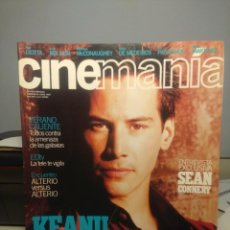 Cine: CINEMANIA ( REVISTA DE CINE ) KEANU REEVES + MATRIX + SEAN CONNERY. Lote 244196170
