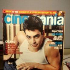 Cine: CINEMANIA ( REVISTA DE CINE ) EDUARDO NORIEGA + FRANÇOIS TRUFFAUT + LUCIA JIMENEZ. Lote 244198965