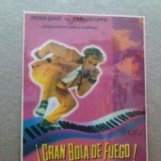 Cine: GRAN BOLA DE FUEGO. Lote 244420515