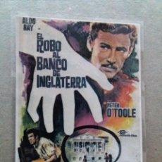 Cine: EL ROBO AL BANCO DE INGLATERRA. Lote 244424175