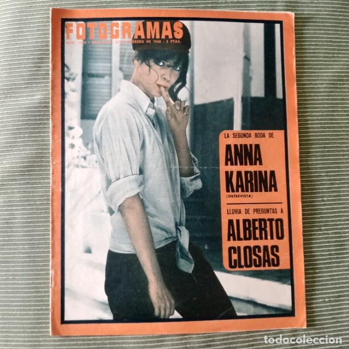 FOTOGRAMAS: NUMERO 1010 - 23 FEBRERO 1968 / ANNA KARINA (Cine - Revistas - Fotogramas)