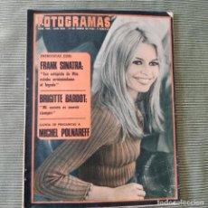 Cine: FOTOGRAMAS: NUMERO 1005 - 19 ENERO 1968 / BRIGITTE BARDOT. Lote 244694395