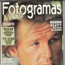 Cine: REVSITA FOTOGRAMAS Nº 1784 AÑO 1992. NICK NOLTE. MELANIE GRIFFITH. MARTIN SCORSESE.. Lote 244710450