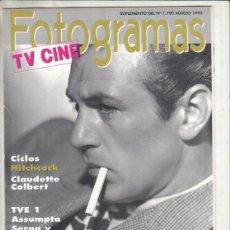 Cine: SUPLEMENTO REVISTA FOTOGRAMAS Nº 1795 AÑO 1993. GARY COOPER. CLICLOS HITCHCOCK.. Lote 244710890