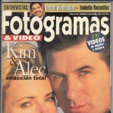 Cine: REVISTA FOTOGRAMAS Nº 1809 AÑO 1994. KIN&ALEC ATRACCION FATAL. CANNES. DENZEL WASHINGTON.. Lote 244711540