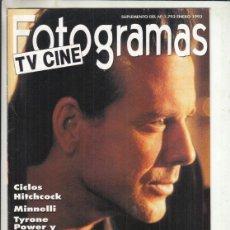 Cine: SUPLEMENTO REVISTA FOTOGRAMAS Nº 1793 AÑO 1993. MICKEY ROURKE. CICLOS HITCHCOCK.. Lote 244712995