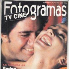 Cine: SUPLEMENTO REVISTA FOTOGRAMAS Nº 1796 AÑO 1993. PEDRO ALMODÓVAR. CICLOS HITCHCOCK.. Lote 244715280