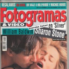 Cine: REVISTA FOTOGRAMAS Nº 1800. ARNOLD SCHWARZENEGGER. WILLIAM BALDWIN. SHARON STONE.. Lote 244716165