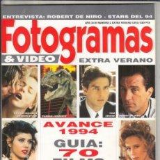 Cine: SUPLEMENTO REVISTA FOTOGRAMAS Nº 1 EXTRA VERANO AÑO 1993. ROBERT DE NIRO.. Lote 244716340