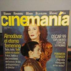Cine: CINEMANIA ( REVISTA DE CINE ) ALMODOVAR, SHARON STONE + GRAN CARTEL DRACULA FORD COPPOLA I. Lote 244719585