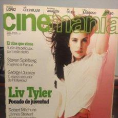 Cine: CINEMANIA : LIV TYLER + GEORGE CLOONEY + STEVEN SPIELBERG. Lote 244724395