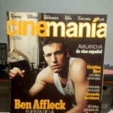 Cine: CINEMANIA : BEN AFFLECK + SANTIAGO SEGURA + CRISTINA RICCI + BERNARDO BERTOLUCCI. Lote 244724685