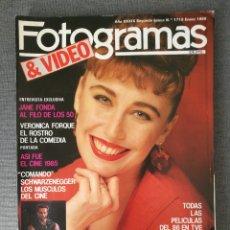Cine: REVISTA FOTOGRAMAS N.º 1715 1986 VERÓNICA FORQUÉ, JANE FONDA, SCHWARZENEGGER, GUTIERREZ CABA. Lote 244837405