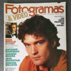 Cine: REVISTA FOTOGRAMAS N.º 1750 1989 ANTONIO BANDERAS, CARMEN MAURA, JOSÉ SACRISTÁN, CONCHA VELASCO. Lote 244838690