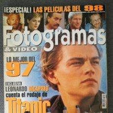 Cine: FOTOGRAMAS N° 1851 (1998). LEONARDO DICAPRIO (TITANIC), MARIBEL VERDÚ, PAUL THOMAS ANDERSON. Lote 244839185