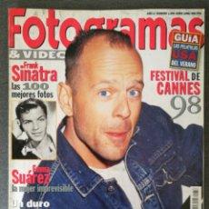 Cine: FOTOGRAMAS N° 1856 1998 BRUCE WILLIS, EMMA SUÁREZ, FRANK SINATRA, JOHNNY DEOO, BRAD RENFRO. Lote 244839405