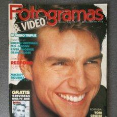 Cine: FOTOGRAMAS N° 1751 1989 TOM CRUISE, ROBERT REDFORD, MICKEY ROURKE, GLENN CLOSE, RIVER PHOENIX. Lote 244840225