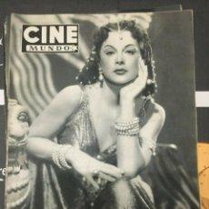 Cine: REVISTA CINE MUNDO HEDY LAMARR COVER 1952 JEAN HAGEN LESLIE CARON WALT DISNEY CYD CHARISSE. Lote 244869505