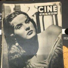 Cine: REVISTA CINE MUNDO JEAN PETERS ON COVER 1952 DOLORES DEL RÍO. Lote 244869610