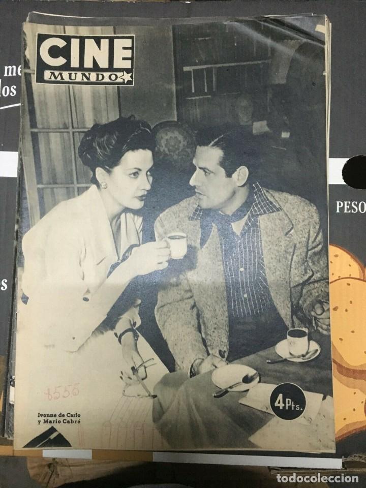 REVISTA CINE MUNDO YVONNE DE CARLO MARIO CABRE ON COVER 1952 AILEEN STANLEY (Cine - Revistas - Otros)