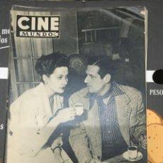 Cine: REVISTA CINE MUNDO YVONNE DE CARLO MARIO CABRE ON COVER 1952 AILEEN STANLEY. Lote 244869715