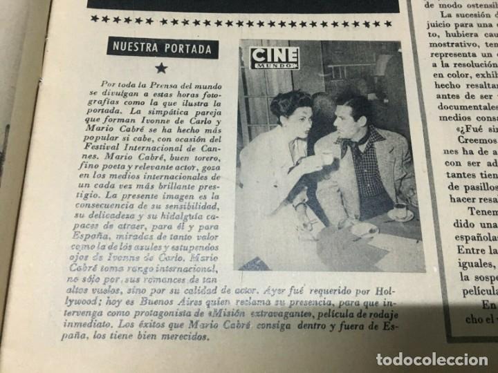 Cine: REVISTA CINE MUNDO Yvonne de Carlo Mario Cabre on Cover 1952 Aileen Stanley - Foto 2 - 244869715
