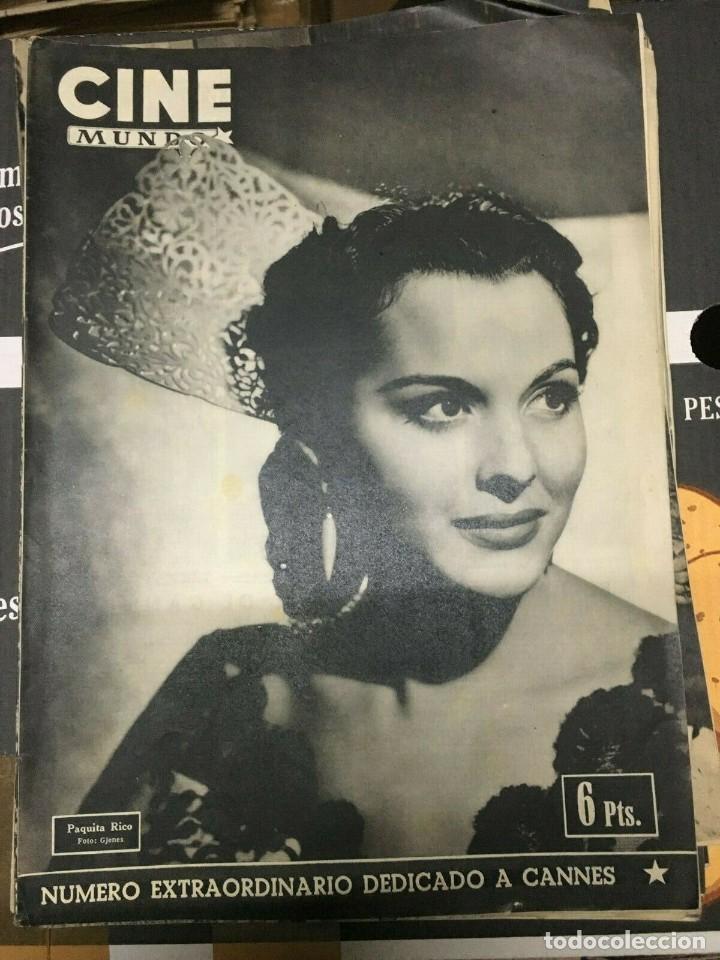 REVISTA CINE MUNDO PAQUITA RICO ON COVER 1952 JOAN FONTAINE DEBORAH MARILYN MONROE L.CARON (Cine - Revistas - Otros)