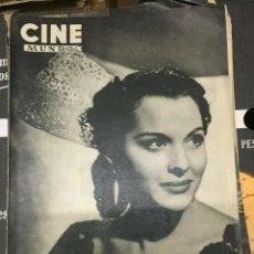 Cine: REVISTA CINE MUNDO PAQUITA RICO ON COVER 1952 JOAN FONTAINE DEBORAH MARILYN MONROE L.CARON. Lote 244870080