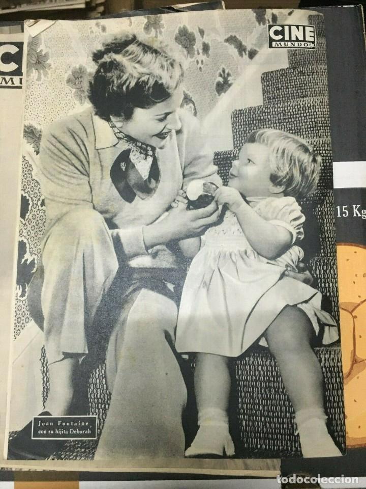 Cine: REVISTA CINE MUNDO Paquita Rico on Cover 1952 Joan Fontaine Deborah Marilyn Monroe L.Caron - Foto 2 - 244870080