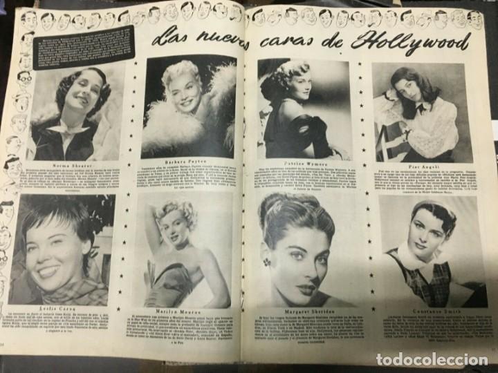 Cine: REVISTA CINE MUNDO Paquita Rico on Cover 1952 Joan Fontaine Deborah Marilyn Monroe L.Caron - Foto 3 - 244870080
